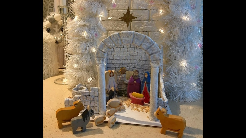 Рождественский вертеп в технике папье маше DIY Christmas Vertep