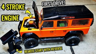 4 STROKE OVERHEAD CAM ENGINE INSTALLED INTO RC CAR Part 5 - FIRST DRIVE, IT WORKS!