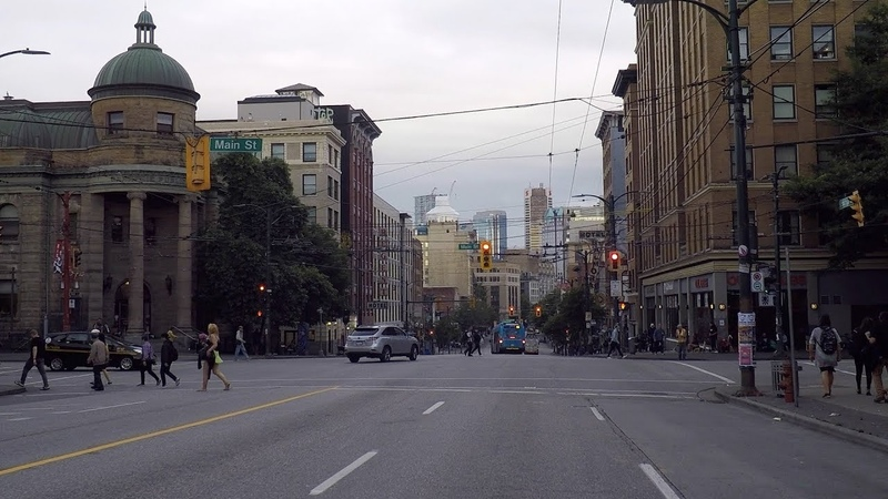 Downtown Vancouver Canada. 2019 City Tour. Business District - Skid Row Area - West End.
