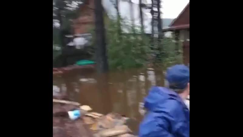 Наводнение в Иркутской области и Бурятии. Спасение животных в селе Олха, 29 июля