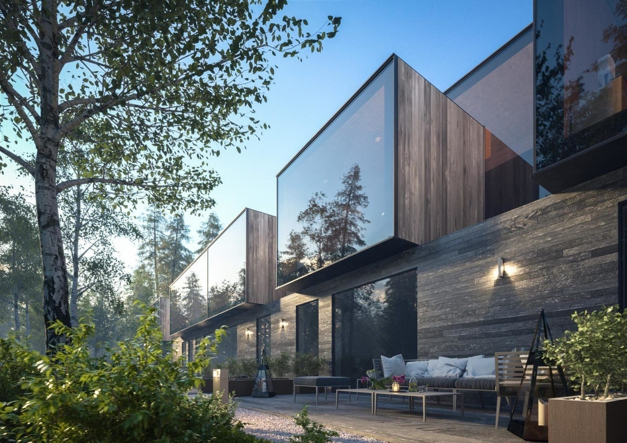 A Quiet Hotel Resort in the Forest