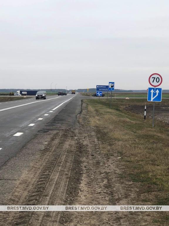 На участке трассы М-10 (пересечение с дорогой «Антополь-Береза») изменен скоростной режим