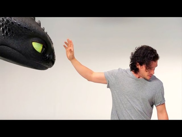Кит Харрингтон и Беззубик на кастинге сериала Игра Престолов (2019)