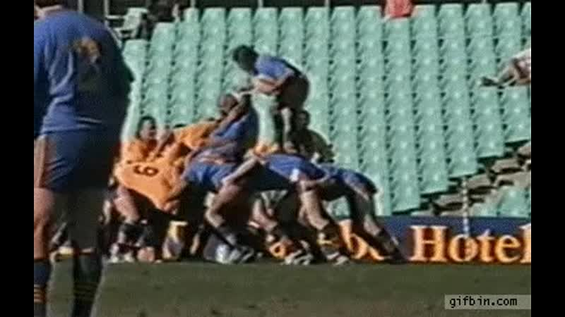 Rugby scrum pwnage