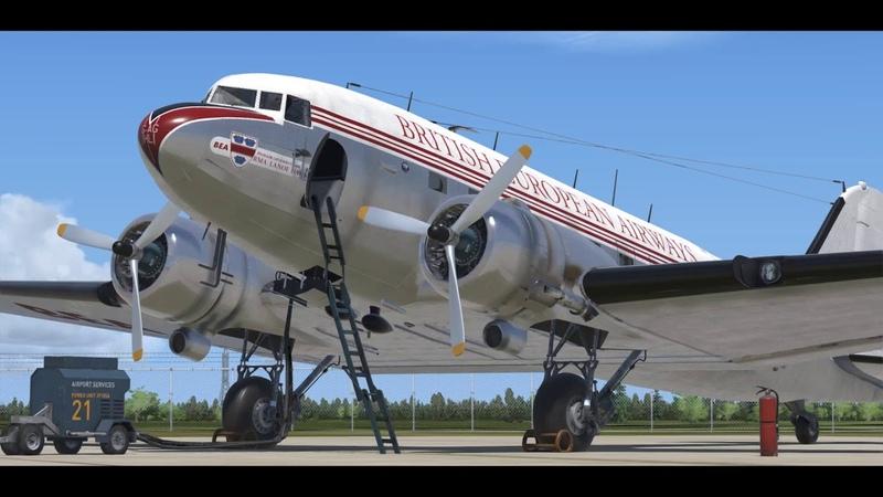 Aeroplane Heaven C 47 DC 3 Engine start guide