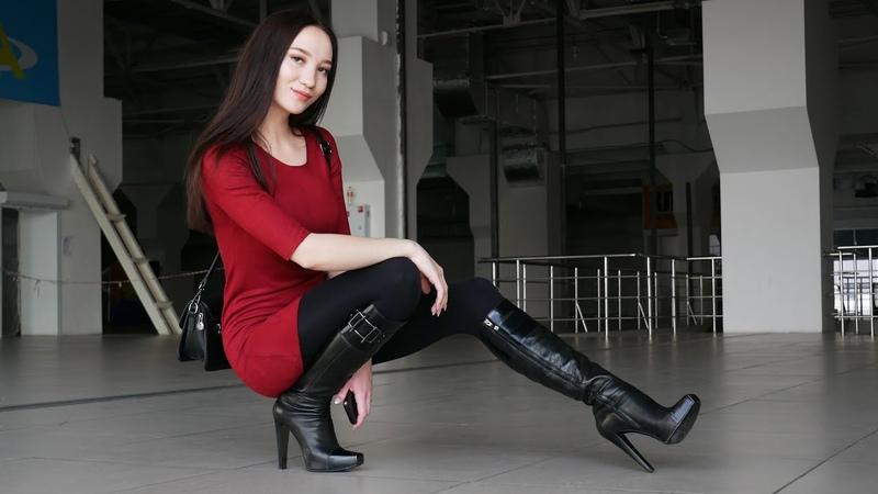 Christina's steel square toe platform high heels Gianmarco Lorenzi boots EU 38 US 7 5