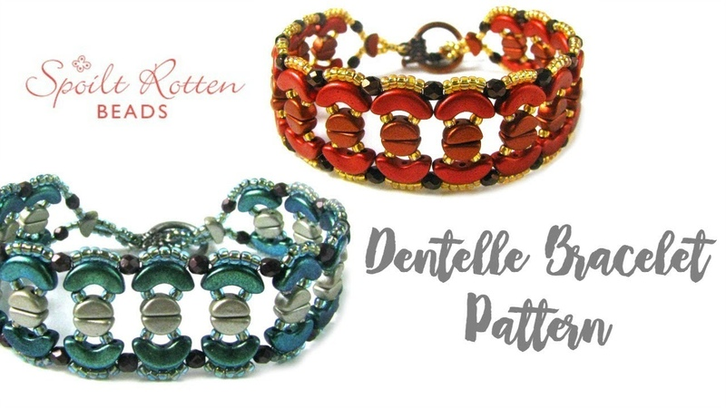 Dentelle Bracelet Tutorial Les Perles Par Puca Beading Tutorial