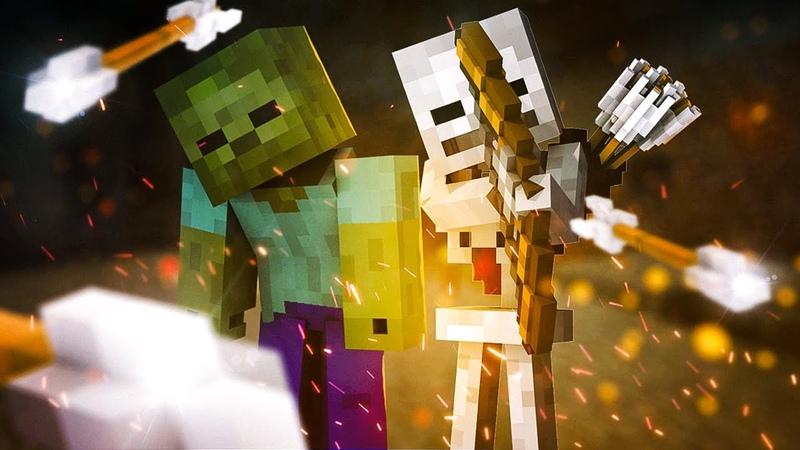 Скелеты и Зомби уже совсем а ринели Прохождение Minecraft на 1 15 2 Часть 3