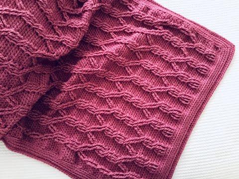 Manta o colcha a crochet con trenzas 12 ¡Paso a paso!