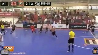 Gol no último segundo garante o título do Corinthians no futsal sub-18