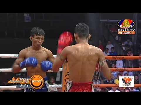 Kun Khmer, ប៊ុន សុធា Vs ខេម ចាន់, Bun Sothea Vs Khem Chan, Bayon boxing 04 Jan 2019 | Fights Zone