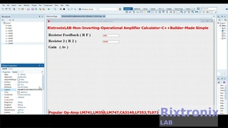 Creating Non Inverting Op Amp Calculator Easy C++Builder  Ep4