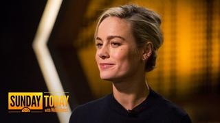 'Captain Marvel' Star Brie Larson Shares Intense Training For Superhero Role   Sunday TODAY