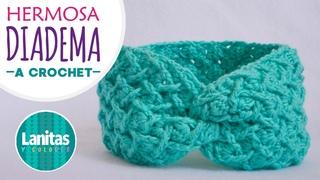 🌸Diadema tejida a crochet, VINCHA CINTILLO TURBANTE | X-twist  crochet HEADBAND. Lanitas y Colores🌸