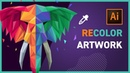 RECOLOR ARTWORK in Adobe Illustrator CC 2019
