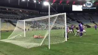 El gol olimpíco de Júnior Sornoza en la victoria de Fluminense en la Copa Sudamericana