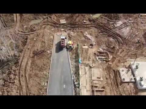 Строительство трассы СБВ от ул Александры Монаховой в сторону ж к Белые ночи 04 04 2020