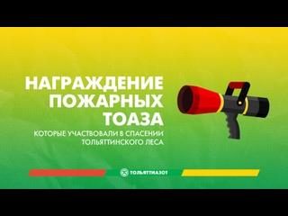 Награждение сотрудников ТОАЗа за помощь в спасении тольяттинского леса