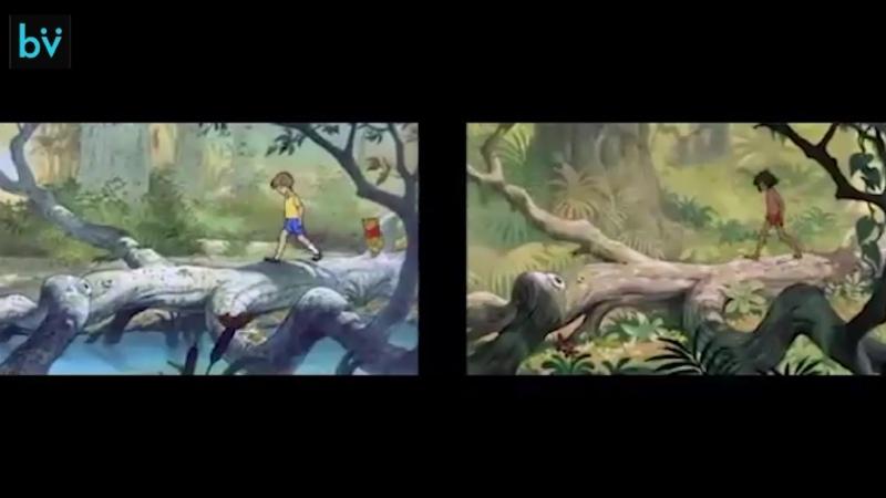 Повторные анимации в мультфильмах Приключения Винни Пуха и Книга джунглей
