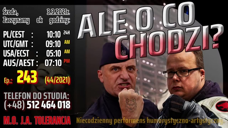 ALE O CO CHODZI 243 44 2021 Śr 3 3 2021 Marcin Osadowski Wojciech Olszański