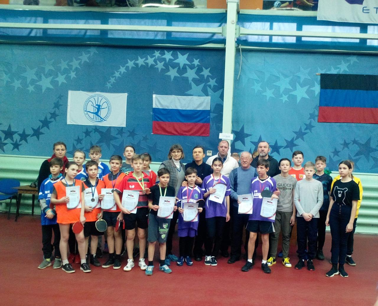 В Донецке прошли соревнования по настольному теннису среди школьников