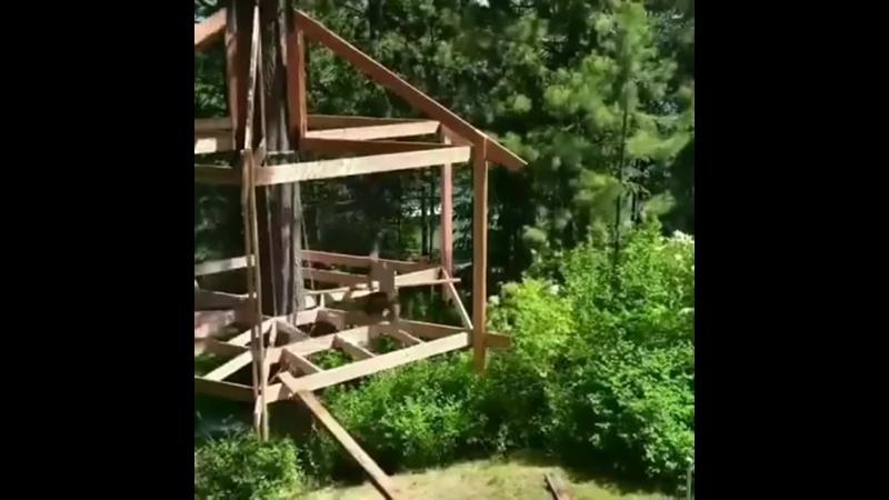 Строительство дома на дереве🌳🏠👷🏻♂️👍