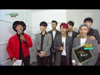 [SHOW:INTERVIEW] 151120 Интервью с  на «Music Bank»