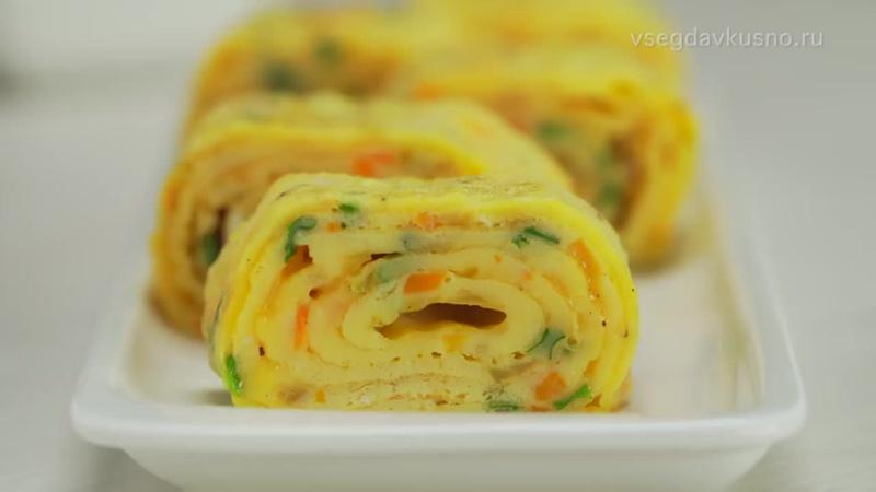 Омлет «Тамаго-яки». Японская кухня. Рецепт от Всегда Вкусно