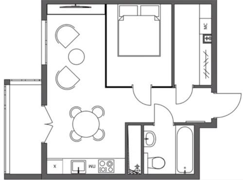 Квартира-студия 37-38 м в Москве.