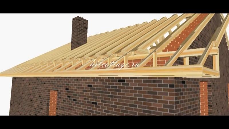 Строительство крыши пошагово. Поймут все