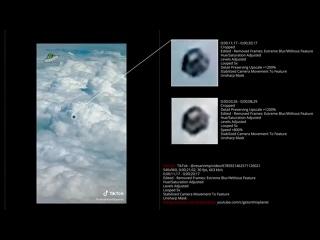 Анализ объекта, типа сферы, снятого с самолета над Медельином, Колумбия, 28 января 2020.. (улучшено и стабилизировано)