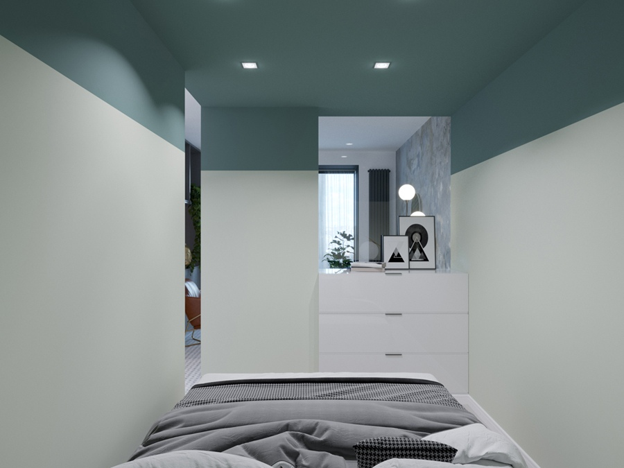 Проект перепланировки однокомнатной квартиры в студию 30 м (с лоджией – 35 м).