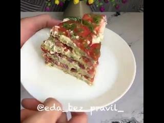 Кабачковый тортик.Очень вкусно и полезно!