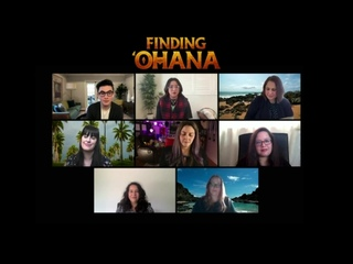 Finding Ohana Press junket with Kea Peah  Owen Vaccaro