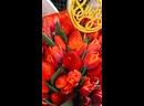 Букет 💐 из клубники🍓 и Тюльпанов