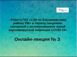 Работа ГКУ СЗН по Ельниковскму району РМ в период пандемии, связанной с возникновением новой коронавирусной инфекции COVID-19