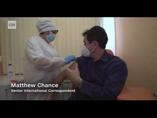 Журналист CNN привился вакциной «Спутник V»