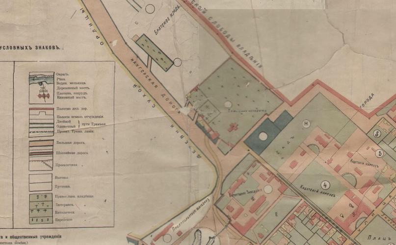 Фрагмент карты 1901 года