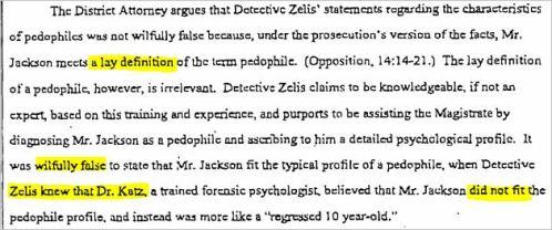 Показания детектива Зелиса содержали заведомо ложное заявление