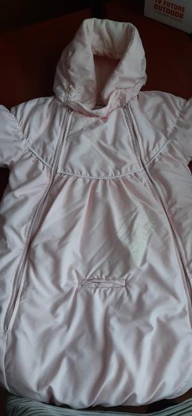 Демисезонный комбинезон-мешок для малышки с рожден...