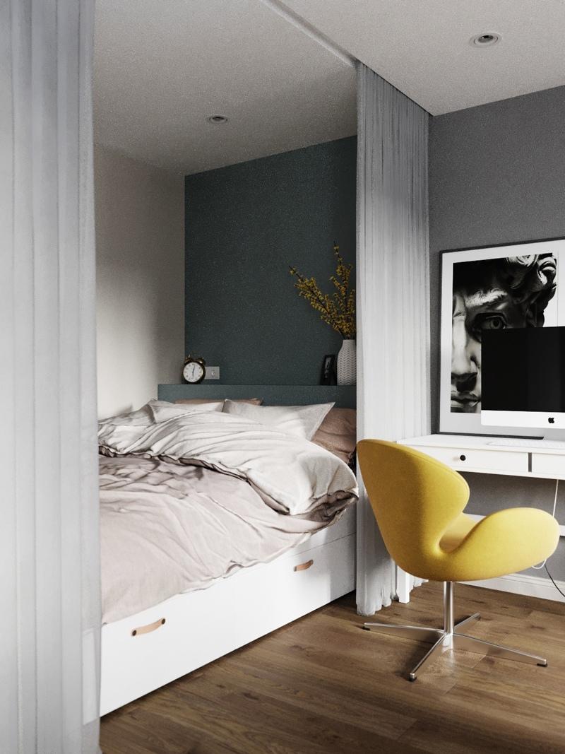 Визуализация квартиры-студии 27 кв.