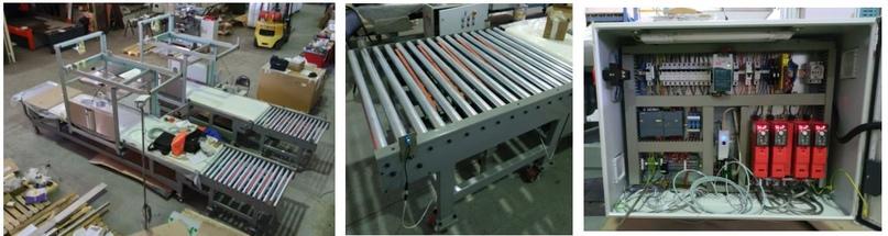 Система отбраковки на конвейере Рольганг 300