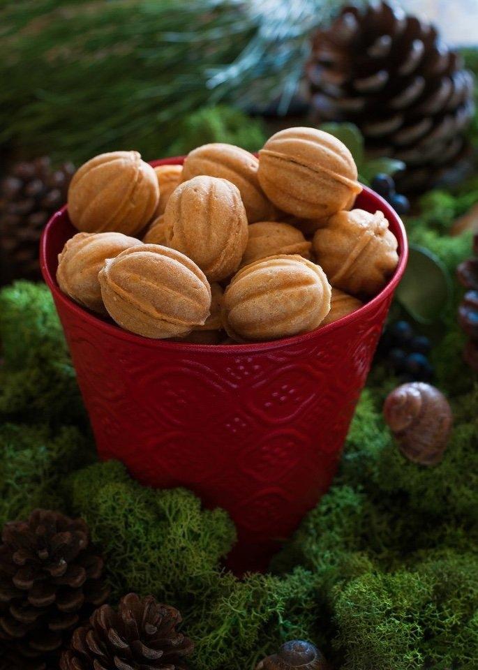 Домашние орешки со сгущенкой 😋