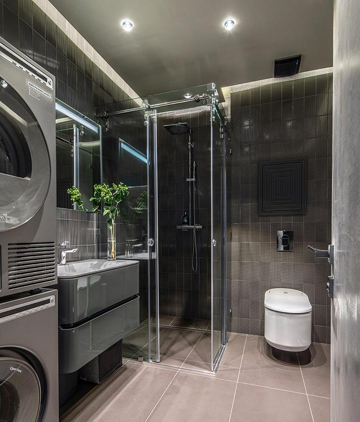 Интерьер квартиры-студии 55 м в Москве.