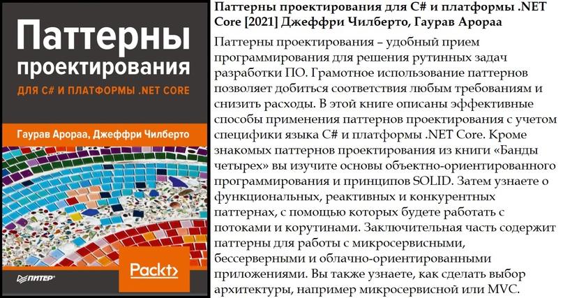 Паттерны проектирования для C# и платформы .NET Core [2021] Джеффри Чилберто, Гаурав Арораа