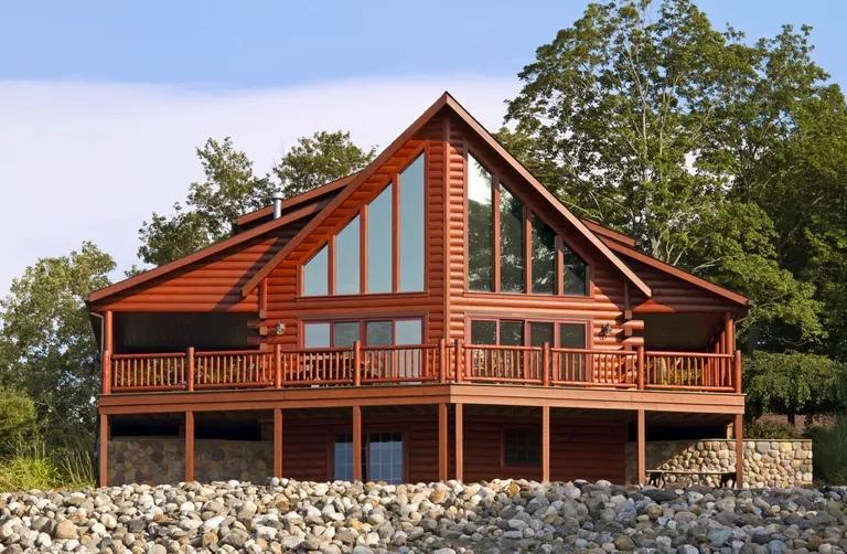 Брусовой дом в стиле рустик или дом первопроходца, изображение №1