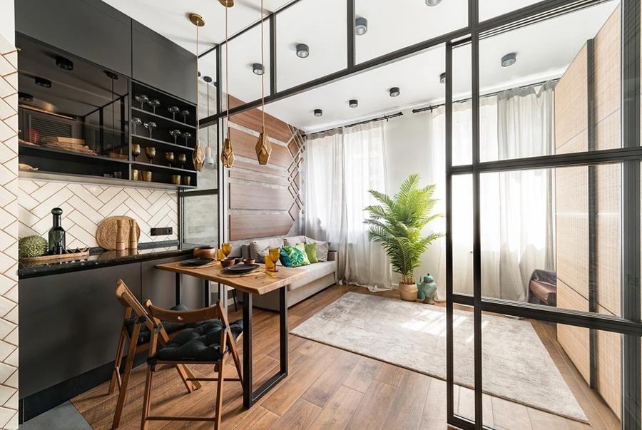 Дизайн студии почти 27 кв.