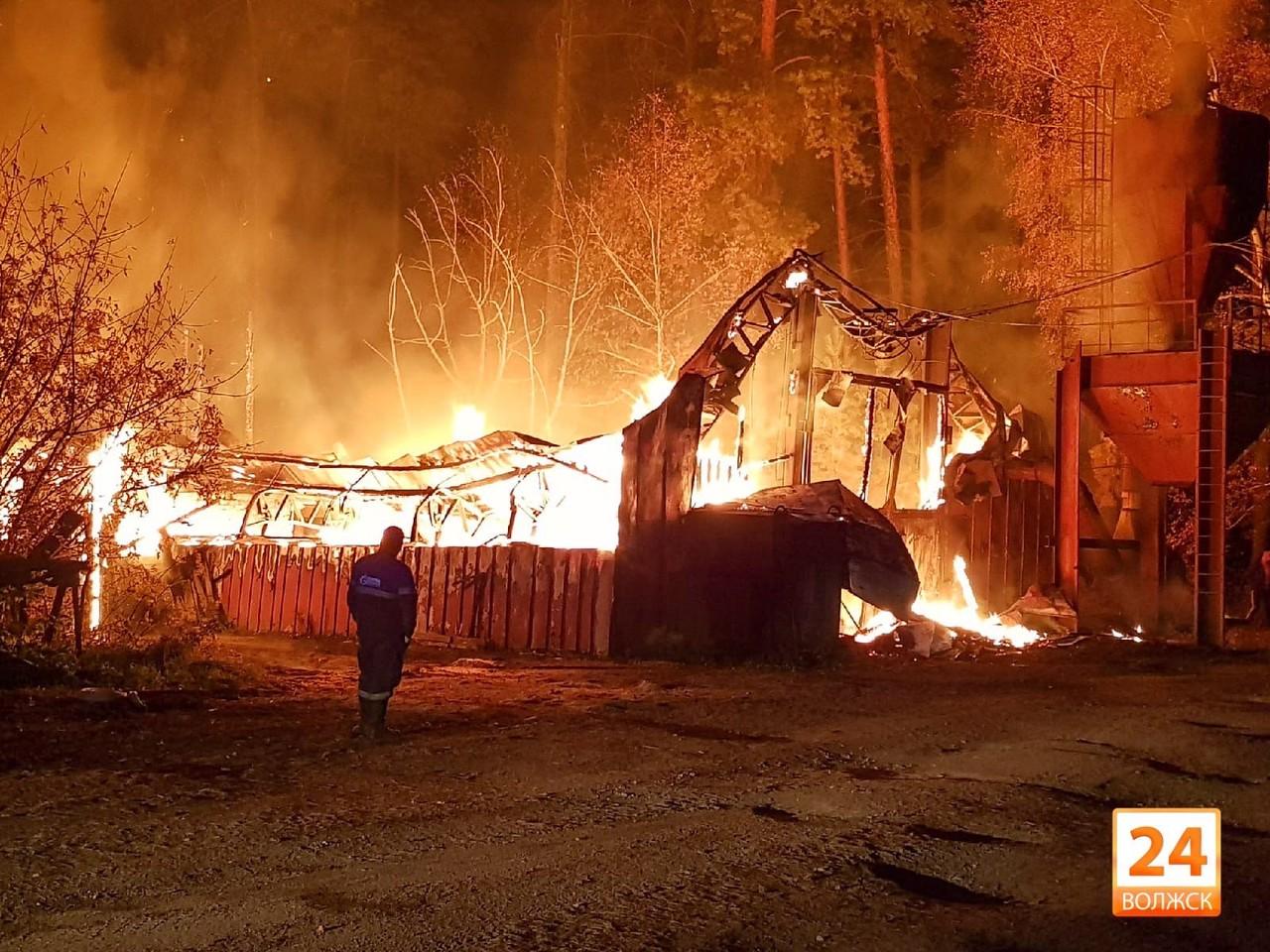 Пожар в Мамасево
