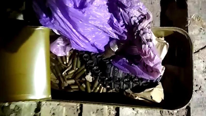 Співробітники Держприкордонслужби та СБУ виявили на Донеччині схрон зі зброєю