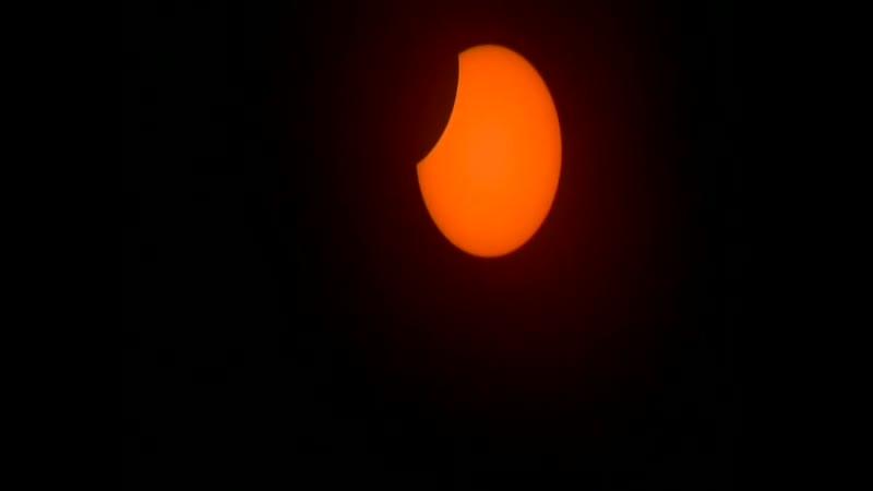 Полное солнечное затмение последнее в 2020 Ускорено в 19 раз